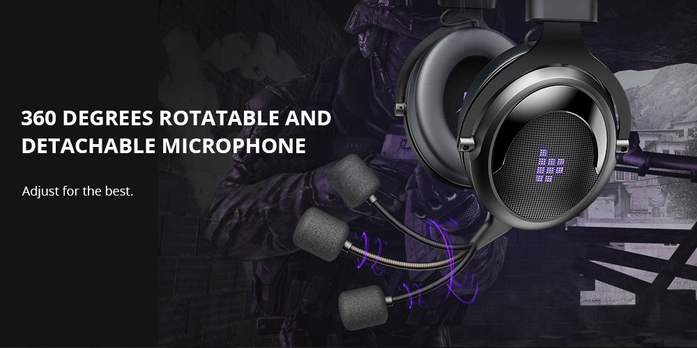 Tronsmart Shadow 2.4G Wireless Gaming Headset -Black+Purple