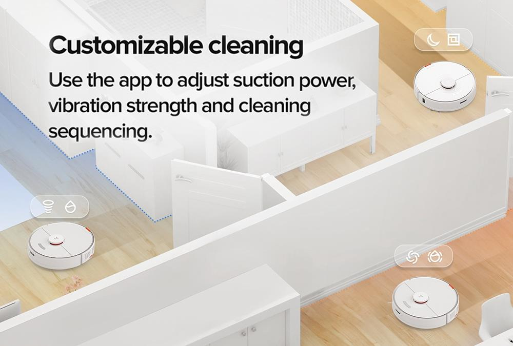 Roborock S7 Robot Vacuum Cleaner with Auto-Empty Dock and Sonic Mopping 2500Pa Powerful Suction LiDAR Navigation 5200mAh Battery 470ml Dustbin 300ml Electric Water Tank for Pets Hair, Carpets and Hard Floor