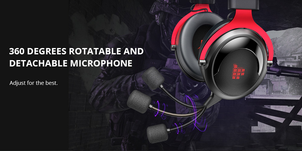 Tronsmart Shadow 2.4G Wireless Gaming Headset -Black+Red
