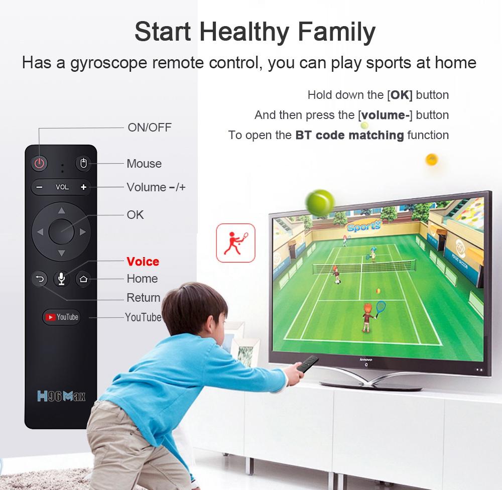 H96 MAX RK3566 Android 11 RK3566 4GB / 32GB TV BOX 1.8GHz 2.4G + 5G WIFI Gigabit LAN hangvezérlő