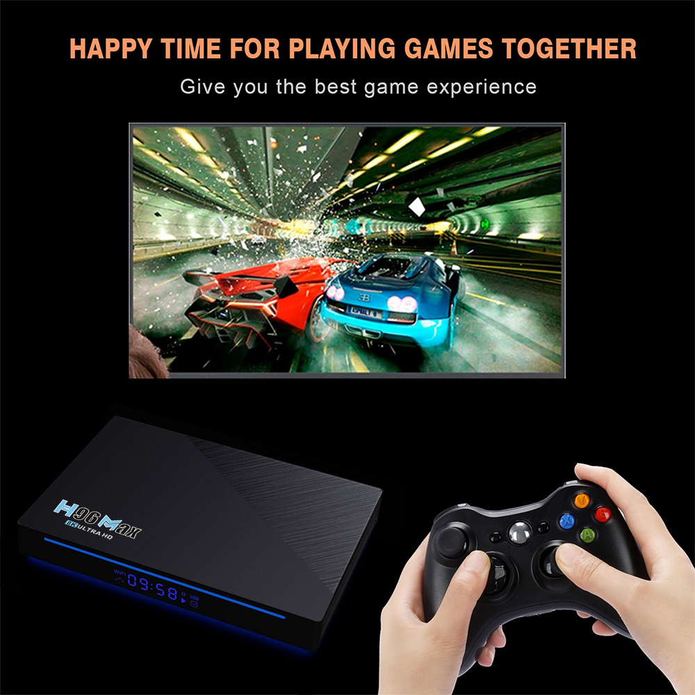 H96 MAX RK3566 Android 11 RK3566 4GB/32GB TV BOX 1.8GHz 2.4G+5G WIFI Gigabit LAN Voice remote