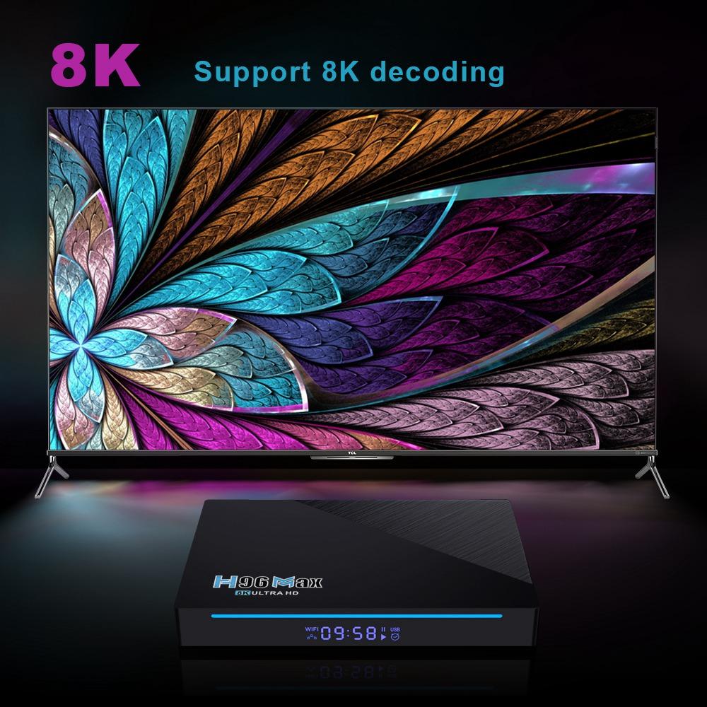 H96 MAX RK3566 Android 11 RK3566 8GB / 64GB กล่องทีวี 1.8GHz 2.4G + 5G WIFI Gigabit LAN Voice remote