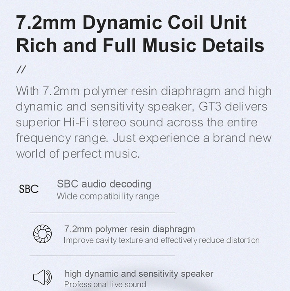 Haylou GT3 Bluetooth 5.0 TWS Earphone DSP Noise Reduction Mic HiFi Bass Smart Touch Control IPX4 -Black