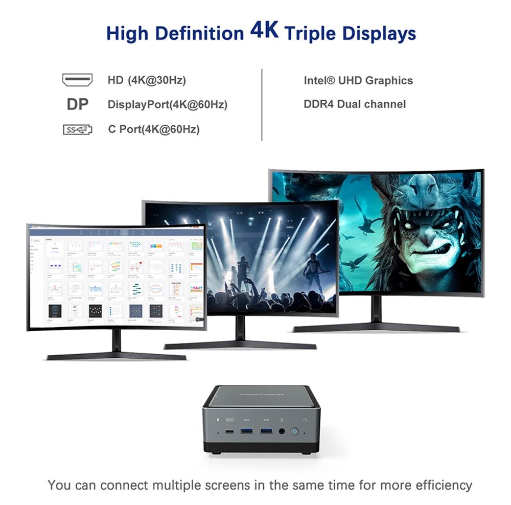 MINISFORUM U850 Intel Core i5-10210U 8 GB RAM 256 GB SSD με άδεια Windows 10 Mini PC WIFI 6 2.5G LAN SATA * 2 RJ45 * 2 HDMI DP