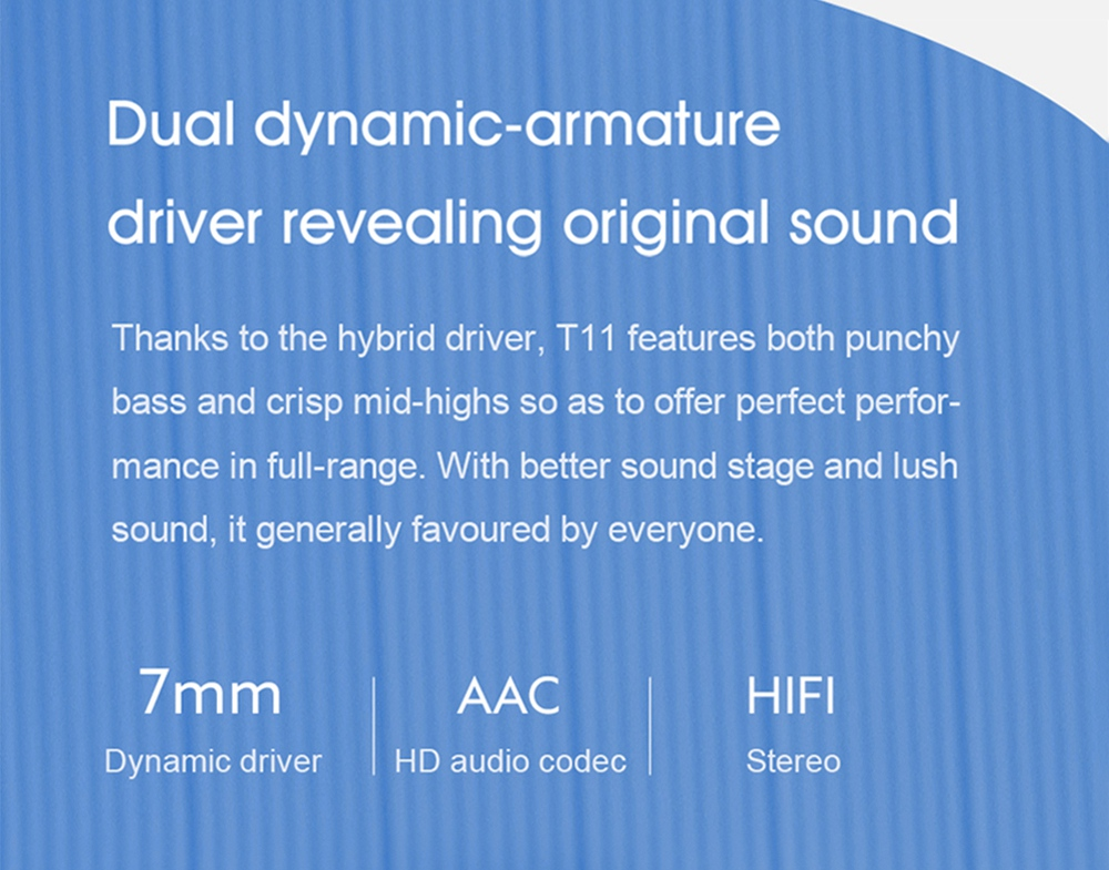 QCY T11 Hifi Dynamic Armature TWS Earbuds with 4 Mics Noise Isolation Quick Charge APP Control- Black