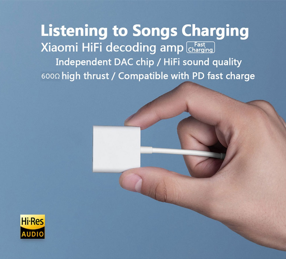 Xiaomix HiFi Decoding Amp Headphone Amplifier Type-C DAC Chip 130dB PCM PD Compatible