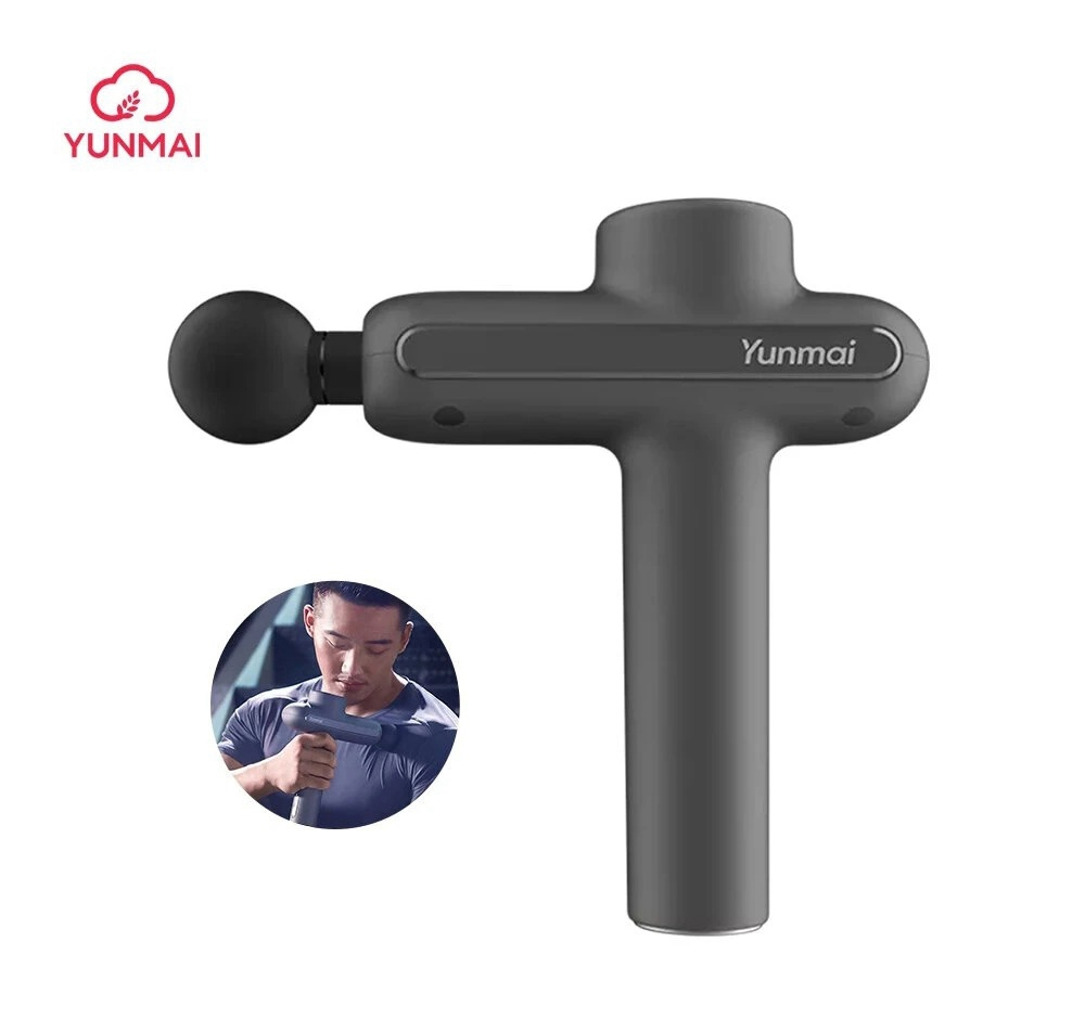 YUNMAI Pro Basic Smart Fascia Gun Body Massager Deep Muscle Relaxation 3 Intensities 2600mAh Rechargeable Lithium Battery - Gray