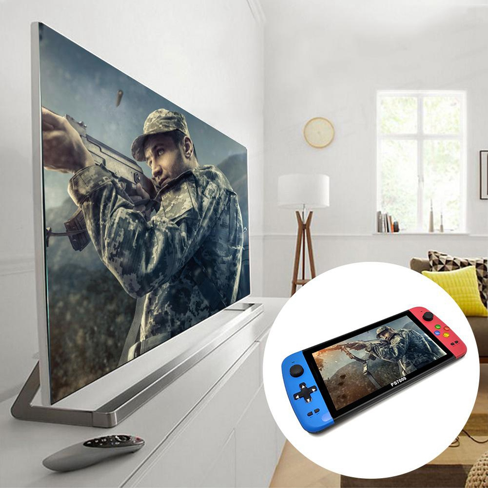 PS7000 7inch Handheld Game Console 32GB 5000+ Games  4000mAh HDMI Interface Supports GB GBA FC SFC