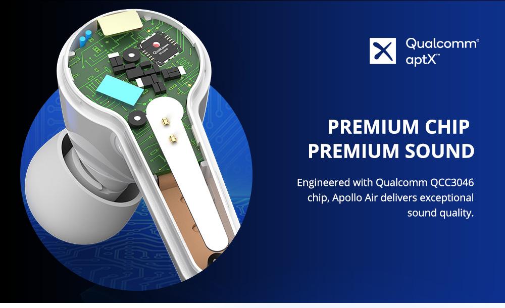 Tronsmart Apollo Air TWS ANC หูฟัง Qualcomm QCC3046 aptX Bluetooth5.2 IP45 - สีขาว