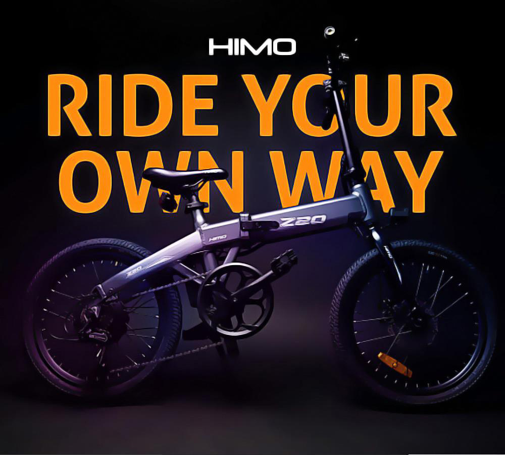 HIMO Z20 Folding Electric Bicycle 20 Inch Tire 250W DC Motor Up To 80km Range 10Ah Removable Battery Shimano 6-speed Transmission Smart Display Dual Disc Brake Europe Version - Gray