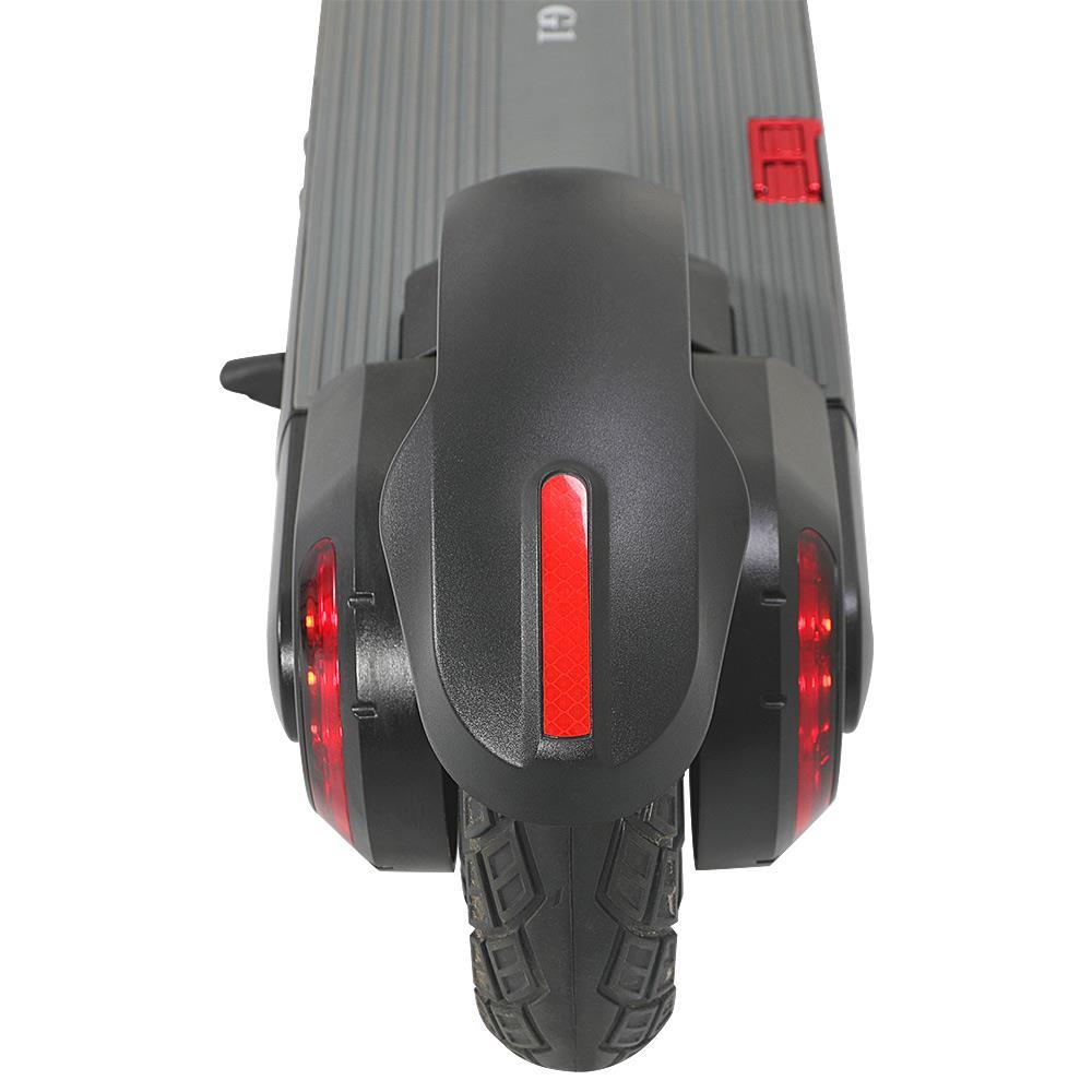 """KUGOO G1 Scooter électrique pliant Pneu 10 """"Moteur 500W Vitesse maximale 40 km / h Portée 40 km max. Batterie 13Ah Écran LCD BMS Frein à tambour avant Frein électrique arrière Support de lumière LED Carte NFC Verrouillage de chaîne à combinaison à 4 chiffres intégré - Noir"""