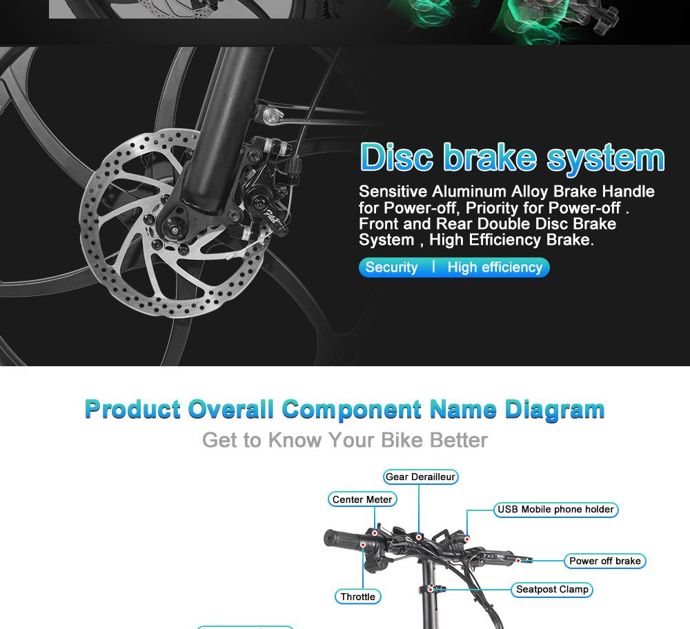 BEZIOR M20 Folding Electric Bike 48V 10.4Ah Battery 350W Brushless Motor 20 inch Tire Aluminum Alloy Frame Shimano 7-speed Shift Max Speed 35km/h LCD Meter Disk Brake - Black