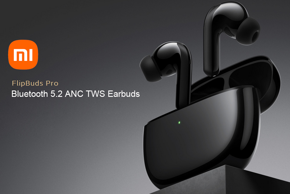 Xiaomi FlipBuds Pro Bluetooth 5.2 ANC TWS Earbuds Active Noise Cancellation Qualcomm QCC5151HiFi APT-X Dynamic Mic 28H Battery life
