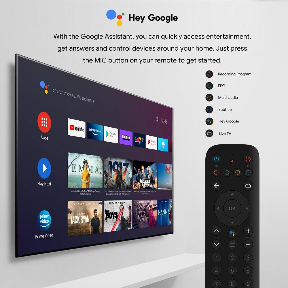 MECOOL KT1 DVB-T / T2 S905X4 Android TV 10.0 BOX 2G RAM 16G ROM 2.4G + 5G WIFI Bluetooth