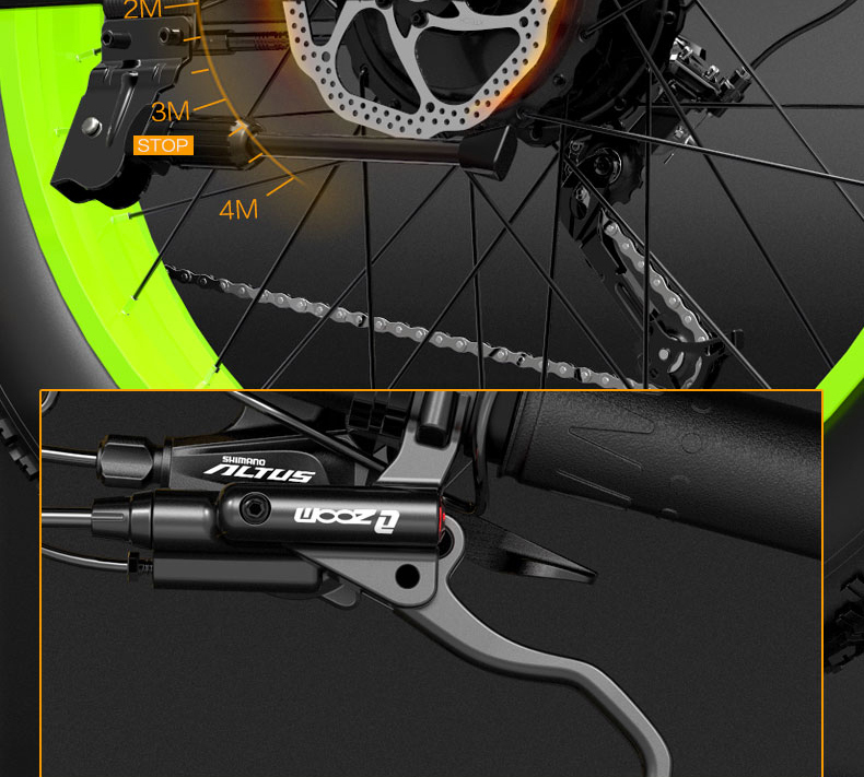 BEZIOR X500 Fat Tire Mountain Bicycle Folding Electric Bike 48V 12.8Ah Removable Battery 500W Brushless Motor 26*4.0 Wheels Aluminum Alloy Frame Shimano 27-speed Shifter Max Speed 35km/h 100KM Power-assisted mileage Range LCD Display IP54 waterproof ZOOM oil Disc Brake - Black Yellow