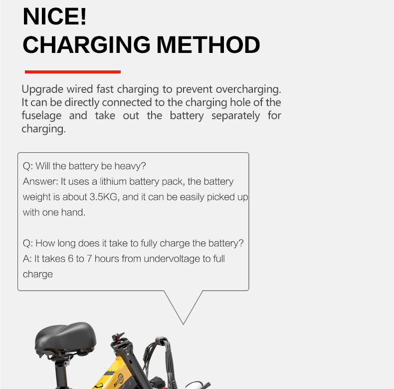 BEZIOR XF200 Folding Electric Bike 48V 15Ah Battery 1000W Motor 20x4.0 inch Fat Tire Aluminum Alloy Frame Shimano 7-speed Shift Max Speed 40km/h 130KM Power-assisted mileage Range LCD Display IP54 Waterproof - Black