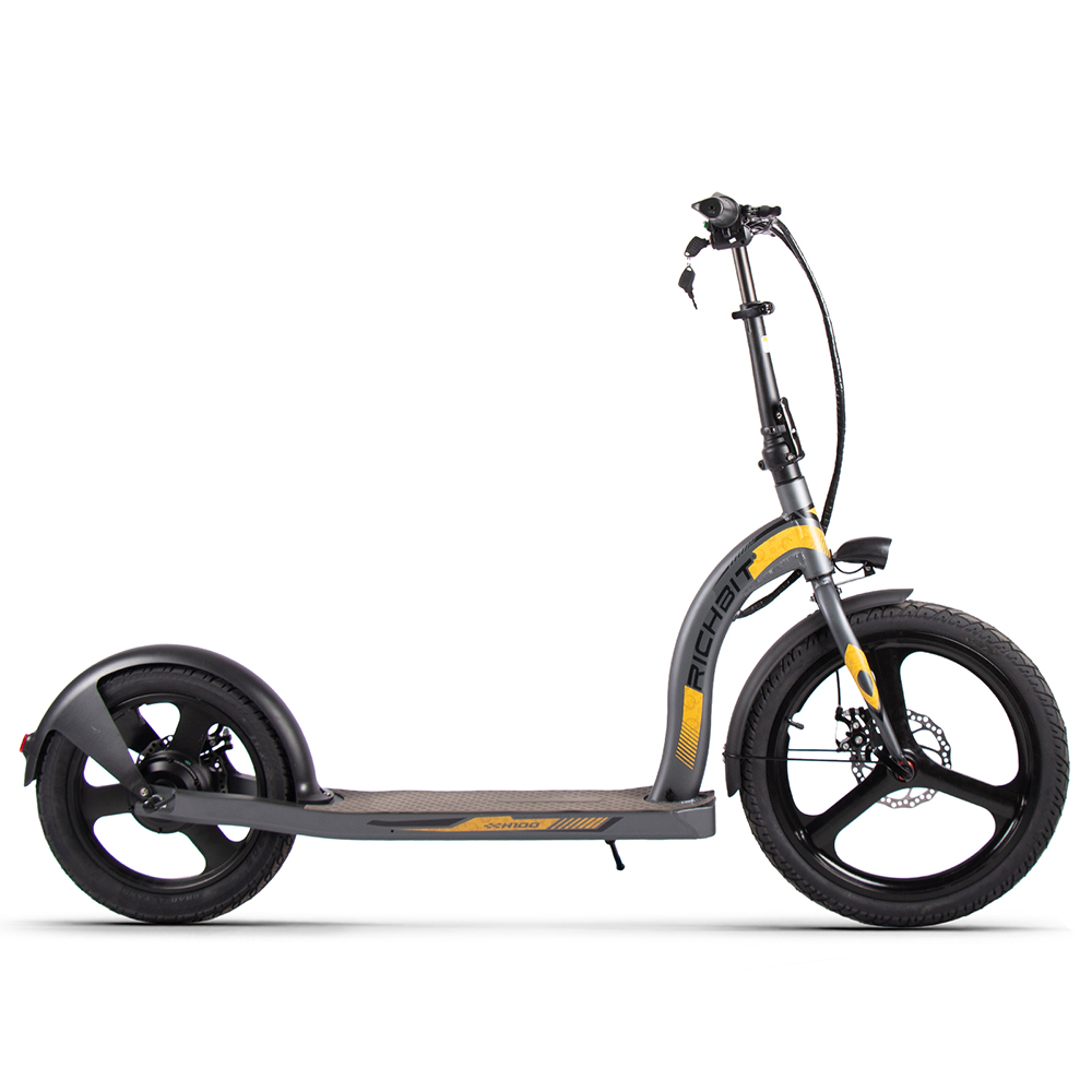 RICH BIT H100 Folding  Electric Kick Scooter Scooter 36V*10Ah Battery Front 20inch Rear 16inch Integrated Wheel  Alloy aluminum frame 350W Motor - Gray
