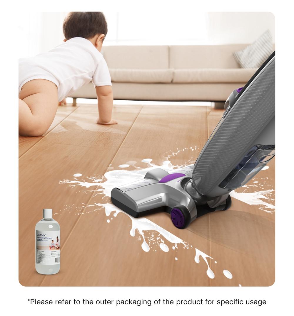 JIMMY PowerWash HW8 Pro Cordless Dry Wet Smart Vacuum Cleaner Cleaner 15000pa Ψηφιακός κινητήρας χωρίς ψήκτρες 3000mAh 35Mins Χρόνος λειτουργίας Στιγμιαίο στεγνό με ένα πάτημα Αυτοκαθαριζόμενο LED Disply Αποσπώμενο δοχείο νερού Αντικαταστάσιμη μπαταρία- Μωβ