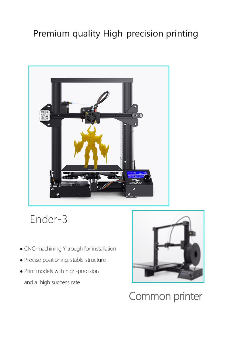 ComgrowCreality Ender 3 Aluminum 3D Printer, 220x220x250mm, Industrial-grade Circuit Board, Print Resume