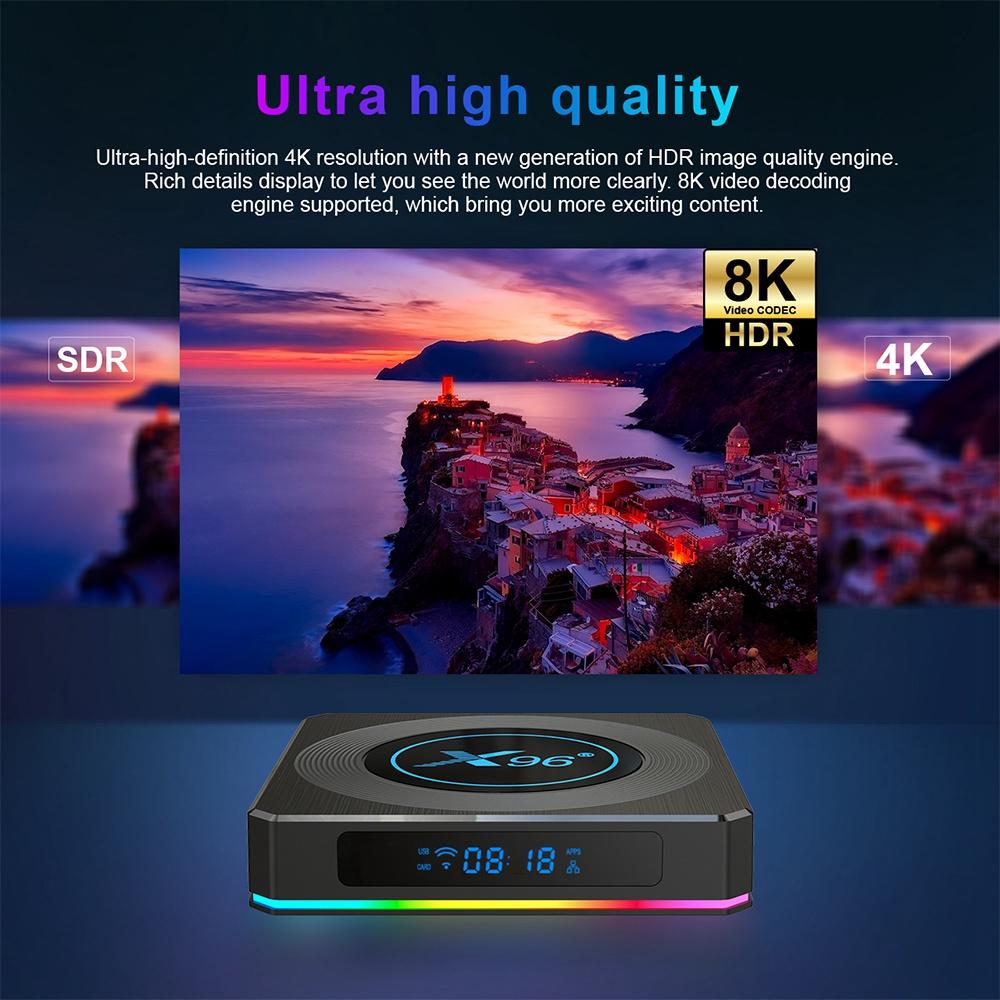 X96 X4 Android 11 Amlogic S905X4 8K HDR 4GB / 32GB TV BOX 2.5G + 5G WIFI Bluetooth 4.1 1000M LAN