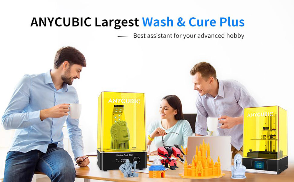 Anycubic Wash and Cure Plus 360 Degree Curing for Mars Pro Photon Mono X LCD SLA 3D Model Printer