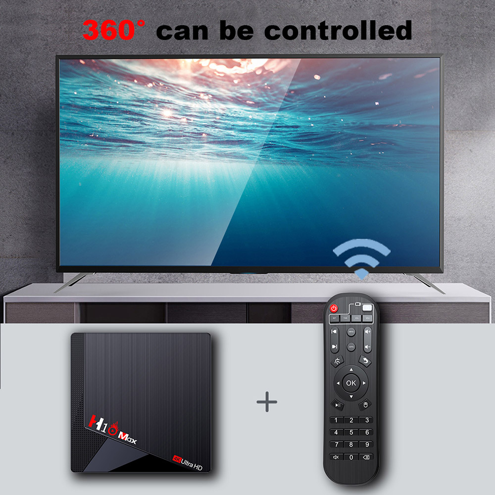 H10 MAX אנדרואיד 11 Amlogic S905W2 תיבת טלוויזיה 4GB RAM 64GB eMMC 2.4G+5G WIFI Bluetooth 4.1 100M