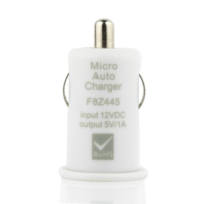 Φορτιστής USB 1000mA DC 12V USB για το τσιγάρο αυτοκινήτου - λευκό