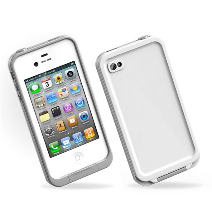 Brand New Waterproof Protective Case Cover for iPhone 4 4S White фото