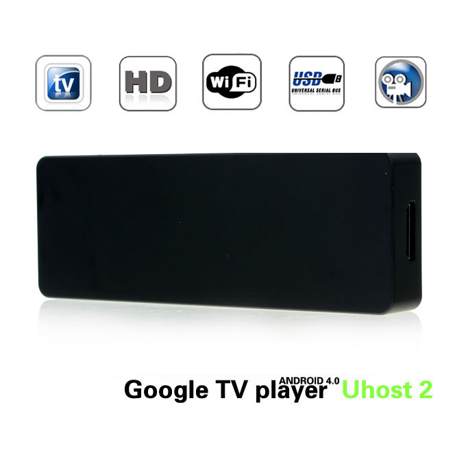 Uhost 2 Dual Core Android TV Box Mini PC RK3066 Cortex-A9 1.6GHZ 1GB RAM 4G ROM with WIFI/Skype/XBMC---Black