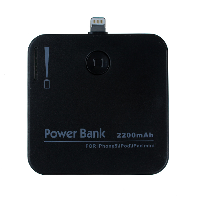 2200mAh Portable Rechargeable External Backup Battery Power Bank Charger Case for iPhone 5S 5C 5/iPad mini