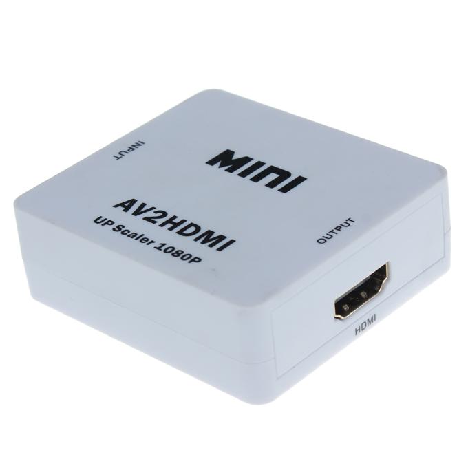 Νέο Mini Composite AV CVBS σε HDMI 720P 1080P (60Hz) HD Ψηφιακό βίντεο Μετατροπέας μετατροπέα AV2HDMI HDV-M615