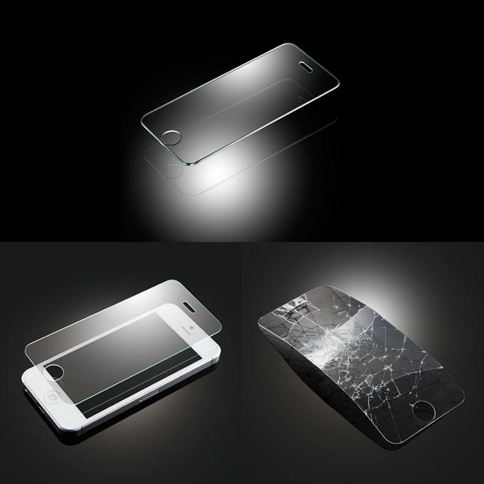 Caldo! Grande protezione nuova dello schermo PGL Vetro temperato ottico protettivo anti-graffio per iPhone 5S 5