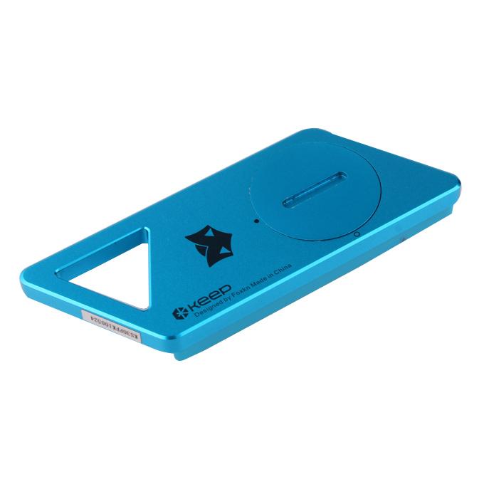 Держите ключ Bluetooth 4.0 Водонепроницаемый двусторонний Anti-lost Alarm Handset Self Weapon - Blue