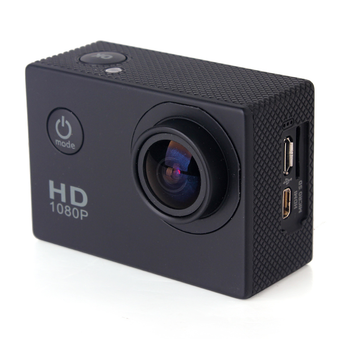 SJCAM SJ4000 Basic Action Camera 2.0 Inch LCD Screen 1080P 12MP Sensor 170 Degree Angle Len Wide Dynamic Range With Waterproof Case - Black