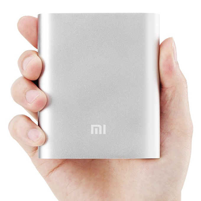 XiaoMi 10400mAh USB Portable Power Bank External Battery Charger for Mobile Phones Tablets iPhone6 Plus Samsung HTC Google - Silver