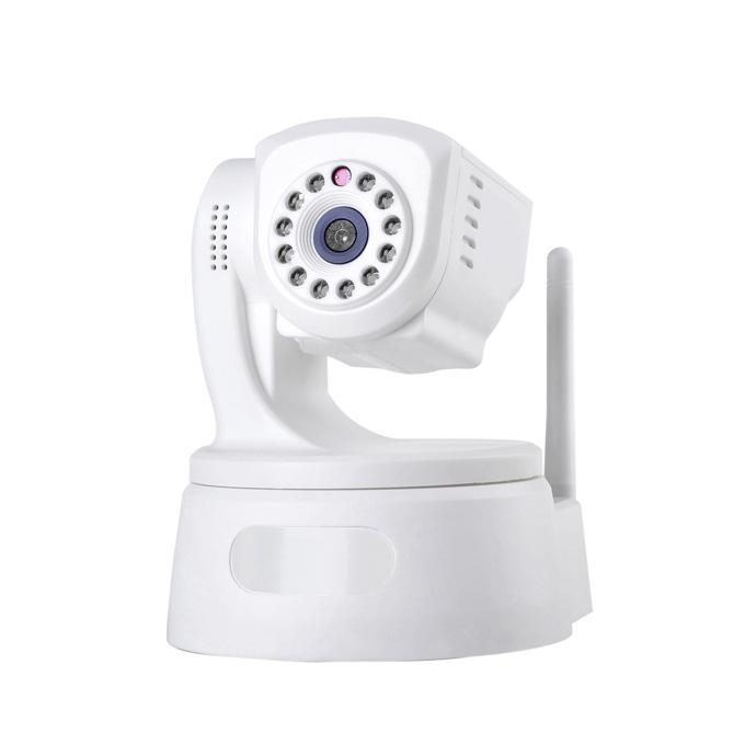IPCC-H01 Bezpieczeństwo Bezprzewodowa kamera IP 1.0 Mega Pixel CMOS P2P 1280 * 720P H.264 Obsługa karty Micro SD Wbudowany Pan / Tilt