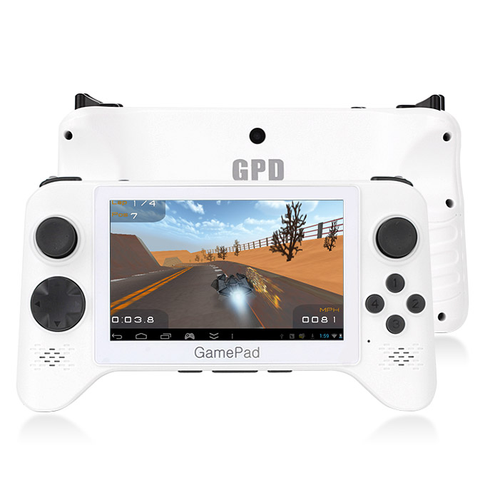 GPD G5A RK3188 Quad Core 5 Inch Android 4.2 OS Tablet PC 1GB RAM 8GB ROM Capacitive Touch Screen GamePad Android Game Tablet/Android Game Console/Handheld Console/Game Console Player White