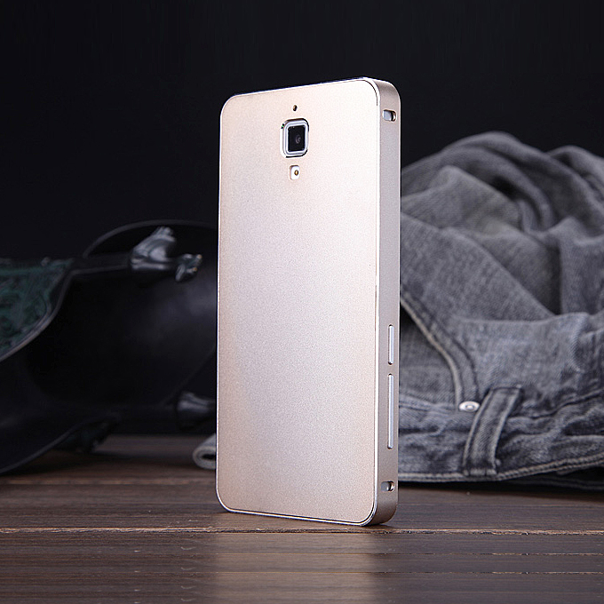 Luxury Fashion Ultrathin Aluminum Full Metal Back Cover Hard Case For Xiaomi 4 Mi4 -Golden