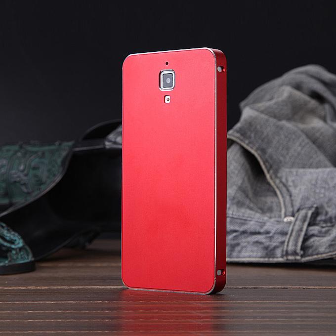 Luxury Fashion Ultrathin Aluminum Full Metal Back Cover Hard Case For Xiaomi 4 Mi4 - Red