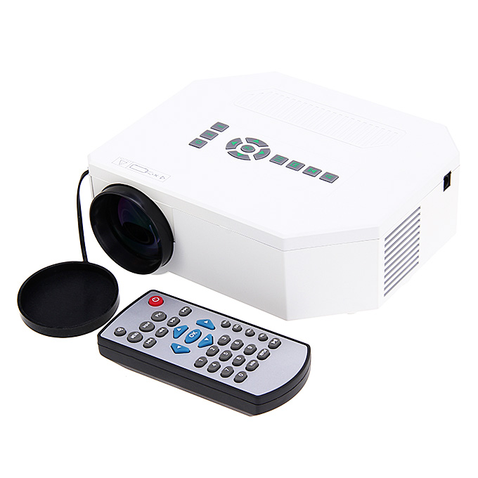 UC30 1080P Portable Mini Led Projector HDMI Home Theater Projector Support HDMI VGA AV USB Digital projector US Plug