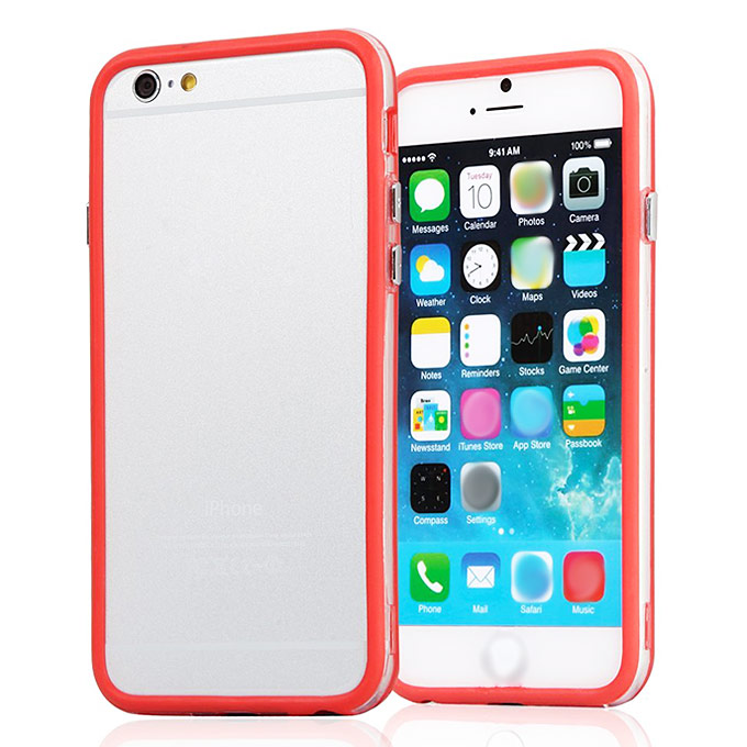 Protective Premium Bumper Frame Skin Case Cover with Plastic Side Buttons For 5.5