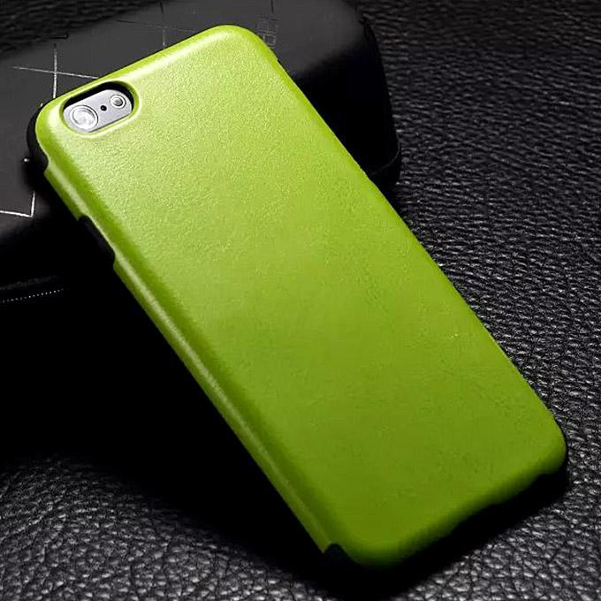 Yeni Lüks TPU Deri Kılıf iPhone 6 Plus için Kılıf Örtüsü - Yeşil
