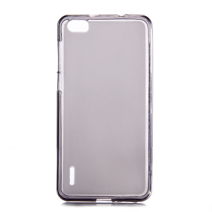 High Quality Protective Silica Gel Case Soft Back Cover for HUAWEI Honor 6 - Gray
