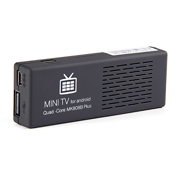 MK808B Plus Amlogic M805 Quad Core Android 4.4 Mini TV Dongle 1G/8G WIFI H.265 HW Decode Bluetooth DLNA Miracast - Black