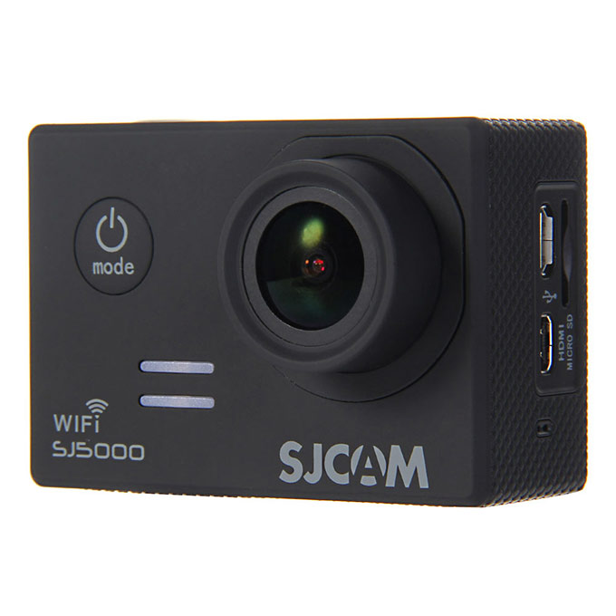 SJCAM SJ5000 WiFi Sports Camera Novatek 96655 14MP 1080P 2.0 Inch 170 Degrees Lens Diving HD Camcorder Car DVR - Black
