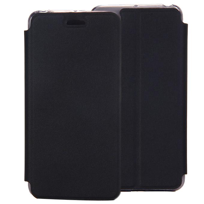 Étui de protection en cuir Flip Stand pour Lenovo S90 haute qualité - Noir