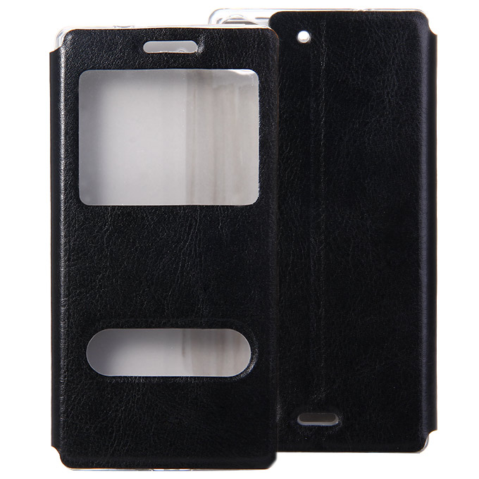 Protective Cover Flip Stand Leather Case for Lenovo Vibe X2 High Quality - Black фото