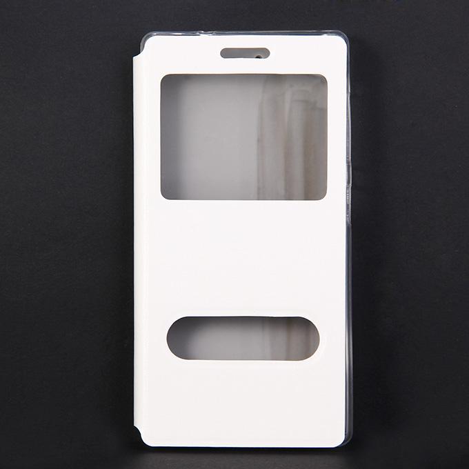 Étui de protection en cuir Flip Stand pour Lenovo Vibe X2 haute qualité - Blanc
