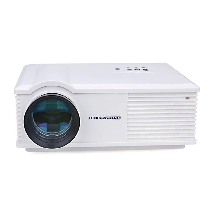 ProHome PH580 LED Projector Multimedia HD 1080P 1280*800 3200 Lumens HDMI USB VGA for Smartphone Game Home Theater White