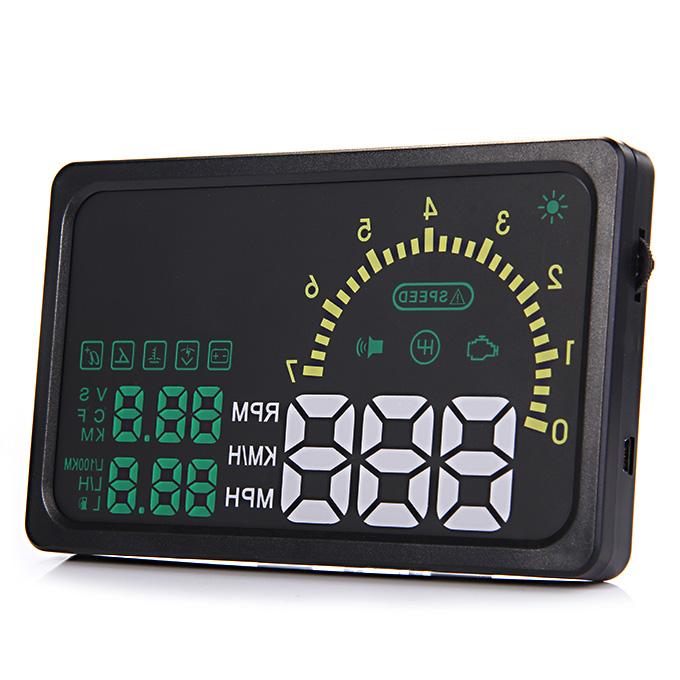 I5 6inch LED OBDII HUD tête affichage au-dessus de l'indicateur de vitesse d'avertissement de pneu